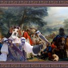 English Pointer Fine Art Canvas Print - Hunter party