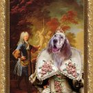 English Setter Fine Art Canvas Print - Portait of Empress to the Emperor