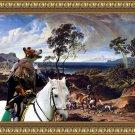 Epagneul Breton Fine Art Canvas Print - Hunters return home