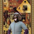 German Long Haired Pointer Fine Art Canvas Print - Combat de Carnaval
