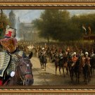 Hungarian Shorthaired Vizsla Fine Art Canvas Print - The pride of the imperial quard