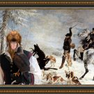 Hungarian Shorthaired Vizsla Fine Art Canvas Print - The deer caught