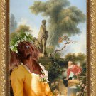 Irish Red Setter Fine Art Canvas Print - The galant meeting