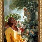Irish Red Setter Fine Art Canvas Print - Cherry picquing