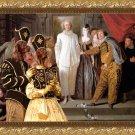 Irish Red Setter Fine Art Canvas Print - The Italian comedians