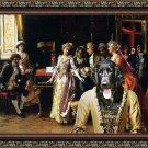 Large Munsterlander Fine Art Canvas Print - The Music Lesson