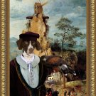 Old Danish Pointing Dog Fine Art Canvas Print - Falconer and strange windmill