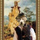 Slovensky Hrubosrsky Stavac Fine Art Canvas Print - Falconer and strange windmill