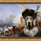 Weimaraner Fine Art Canvas Print - Fishermen on ice Sun and Duke