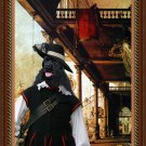 American Cocker Spaniel Fine Art Canvas Print - Capriccio of Colonade and the Courtyard of a Palace