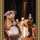 American Cocker Spaniel Fine Art Canvas Print - The afternoon drinking tea