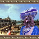 American Cocker Spaniel Fine Art Canvas Print - Walking the streets of Vienna