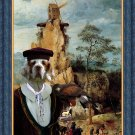 Clumber Spaniel Fine Art Canvas Print - Portement of Cross and Falconer