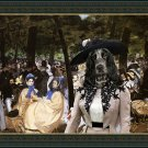 English Cocker Spaniel Fine Art Canvas Print - Music with Tuileries