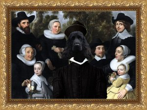 English Cocker Spaniel Fine Art Canvas Print - An Unknown Family in a Landscape