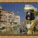 English Cocker Spaniel Fine Art Canvas Print - The Grand Canal, Venice