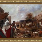 Epagneul Francais Fine Art Canvas Print -The departure of the huntsmen