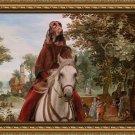 Field Spaniel Fine Art Canvas Print - Pasague and castle