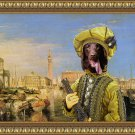 Flat Coated Retriever Fine Art Canvas Print - Pirate in Venice