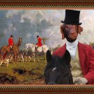 Flat Coated Retriever Fine Art Canvas Print - The Meet At The Crossroads