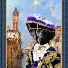 Flat Coated Retriever Fine Art Canvas Print -  Rio St Barnaba Venice