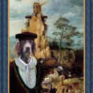 German Spaniel Fine Art Canvas Print - Portement of Cross