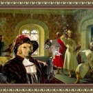Golden Retriever Fine Art Canvas Print - The noble Falconers in Palace