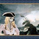 Golden Retriever Fine Art Canvas Print - Pirate ship in a storm
