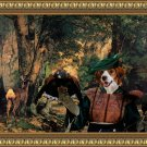 Kooikerhondje Fine Art Canvas Print - A Thicket of Deer
