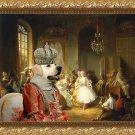 Labrador Retriever Fine Art Canvas Print - Actors Before a Performance
