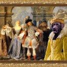 Labrador Retriever Fine Art Canvas Print - Actors in comedy