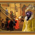 Labrador Retriever Fine Art Canvas Print - Respected Lady at the court