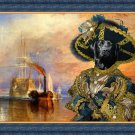 Labrador Retriever Fine Art Canvas Print - The fighting Temeraire with black Pirate