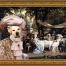 Labrador Retriever Fine Art Canvas Print - The Garden Party