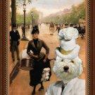 Lagotto Romagnolo Fine Art Canvas Print - Modiste at Champs Elysees