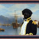Perro de Agua Español Fine Art Canvas Print - Capetane and his ship