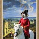 Perro de Agua Español Fine Art Canvas Print - The Red Horse rider