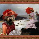 Perro de Agua Español Fine Art Canvas Print - Windy day at the Beach