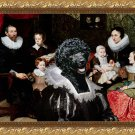Portuguese Water Dog Fine Art Canvas Print - Portrait unknown Flemish family
