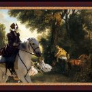 Welsh Springer Spaniel Fine Art Canvas Print - Rendezvous after the Hunt