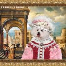 Bichon Frise Fine Art Canvas Print - The Noble Lady in Palace