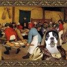 Boston Terrier Fine Art Canvas Print - The Wedding banquet and bride