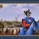 Boston Terrier Fine Art Canvas Print - Preparing for the battle