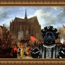 Brussels Griffon Fine Art Canvas Print - Waiting for his turn