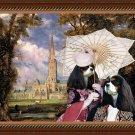 Cavalier King Charles Spaniel Fine Art Canvas Print - The duka and dushess of Sailsbury