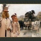 Cavalier King Charles Spaniel Fine Art Canvas Print - Waiting for the diligence