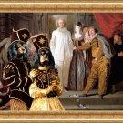 Cavalier King Charles Spaniel Fine Art Canvas Print - The Italian comedians