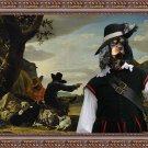 Cavalier King Charles Spaniel Fine Art Canvas Print - The black Musketeer and shepherds
