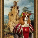 Cavalier King Charles Spaniel Fine Art Canvas Print - Portement of Cross