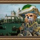 Chihuahua Long Haired Fine Art Canvas Print - Casanova in Venice